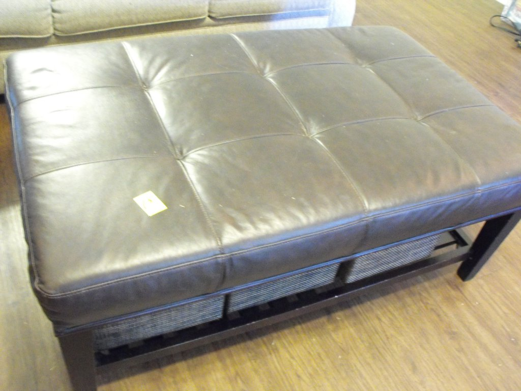 Padded Coffee Table/ Ottoman- Brown