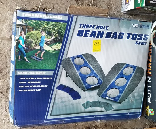 Admirable Three Hole Bean Bag Toss Game Estate Personal Property Gmtry Best Dining Table And Chair Ideas Images Gmtryco