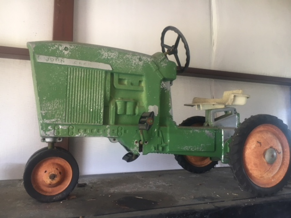 Vintage Toy John Deere Pedal Tractor With Cart ...