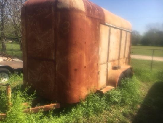 """Enclosed Steel Construction Trailer, Tx Plate 888-09b, 85""""oaw X 17' Oal, Bill Of Sale & Registration"""