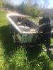 1960 Sea King Aluminum Boat On Steel Sea King Trailer W/classic 50 Mercury Motor