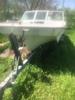 Vip Fiberglass Boat W/65 Hp Suzuki Motor On Galvanized Dilly Trailer