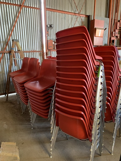 Stacking chairs, 81 count