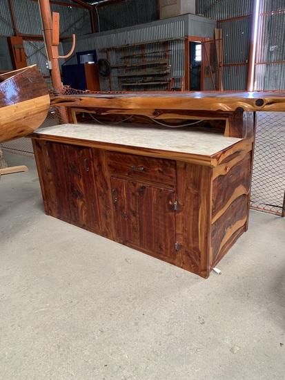 Handcrafted outdoor bar