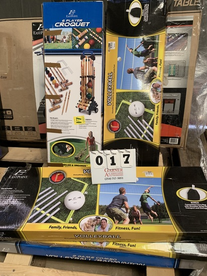 Lot Of Outdoor Game Sets