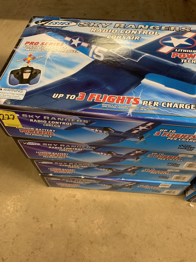 4 Estes Sky Rangers Radio Control Plane