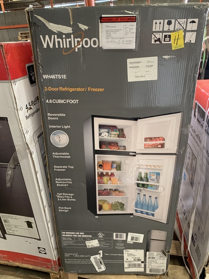 Whirlpool 4.6 Cu. Ft. 2-door Refrigerator/freezer