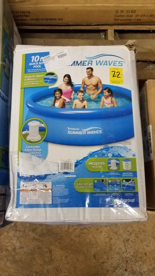 "Summerwaves 10"" Quick Set Pool"
