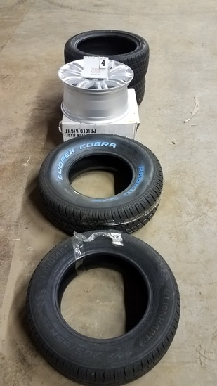 "4 Tires And 1 Rim 18""- Lionhart 205/65r15, Cooper Cobra 255/70r15, 2-lionhart 245/45r19"