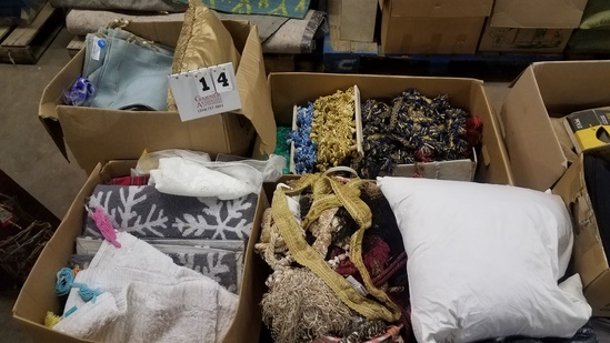 Pallet Of Misc. Fabric, Tassels, Pillows