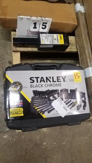Stanley Black Chrome Socket Set & Hitch Adapter