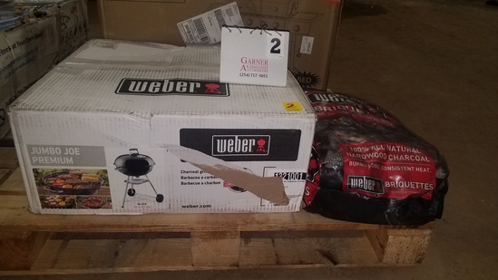 Weber Jumbo Joe Premium Charcoal Grill With Briquettes