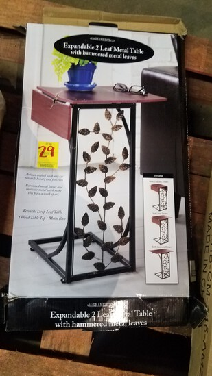 Expandable 2 Leaf Metal Table