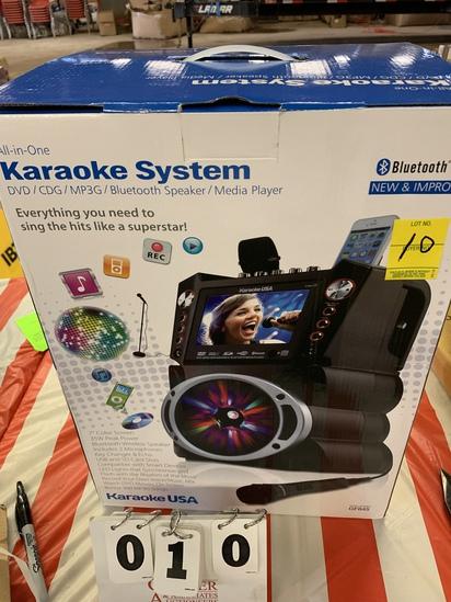 Karaoke System - Dvd/cdg/mp3g/bluetooth Speaker/media Player