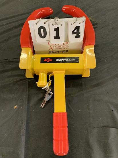 Goplus Trailer Lock Wheel Clamp, Adjustable Anti-theft Tire Lock 5.3lb Boot