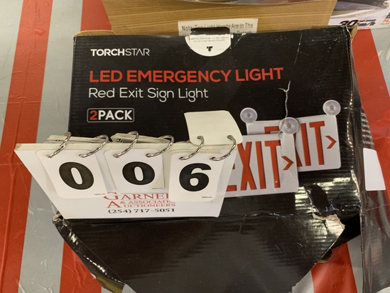 Torchstar Led Emergency Light- Red Exit Sign