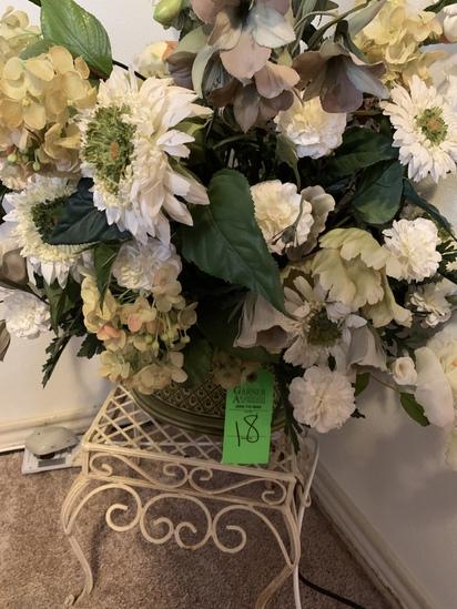 Artificial Floral Arrangements And Table