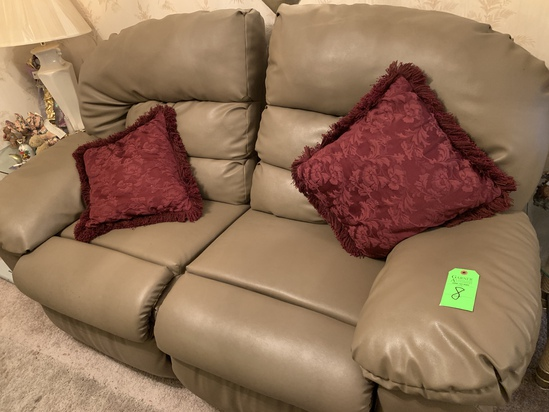 2 Section Rocking Loveseat