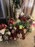 Large Lot Of Artificial Floral Arrangements