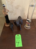Figurines And Galileo Thermometer