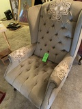 Queen Anne Upholstered High Back Wing Chair