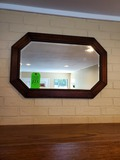 Wood Framed Beveled Mirror