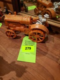 Vintage Cast Iron Toy Tractor