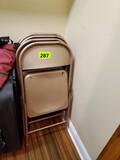 6 Metal Chairs- 2 Vintage