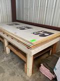 Foam Board, T-5 Siding, Misc. Wood, Table/bench