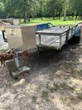 16' Trailer, Electric Brakes, Ramps, Spare Tires, Truck Box