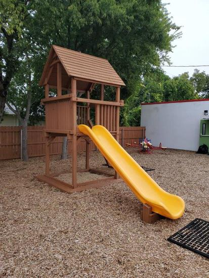 Woodplay Playset With Slide