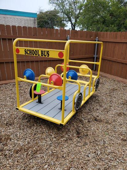 School Bus Multi-passenger Spring Ride Bouncer