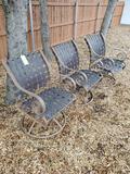 3 Swivel Patio Chairs