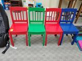 4 Wood Kids Chairs