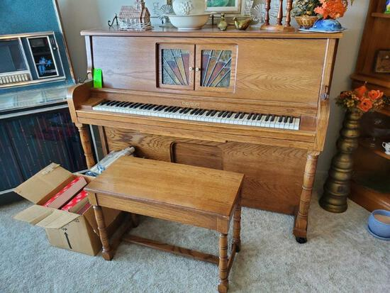 Cabaret Players Piano With Several QRS Players Rolls