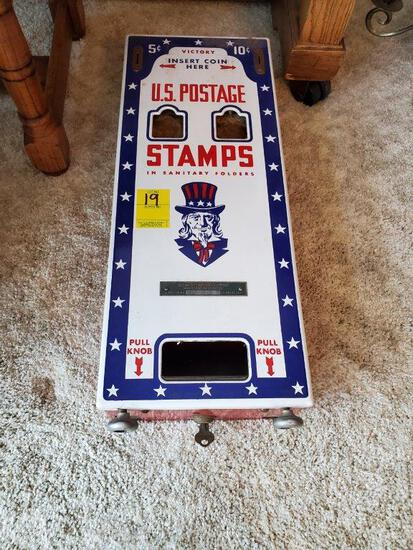 Vintage U.S. Postage Stamps Dispenser- Wall Mount