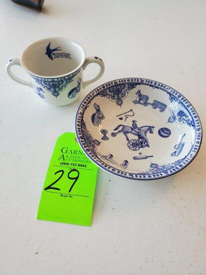 Spode Baby Plate And Cup