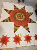 Fall Star Quilt 100x82