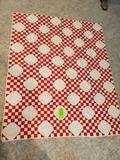 Red Check Quilt 73x60