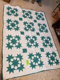 Green Quilt 91x68