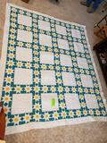 Hearts & Sunflowers Quilt 93x79