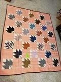 Maple Leaf Quilt 82x68