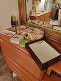 Contents On Top Of Desk/bookshelf (in Blonde Room)