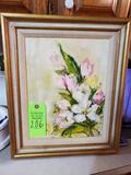 Flowers On Canvas Painting (M. Cherril)