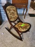 Folding Wood Rocking Chair