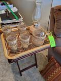 Tray W/ Pitcher & 4 Glasses