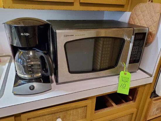 Emerson Microwave & Mr. Coffee Maker