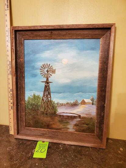 Windmill Painting On Canvas