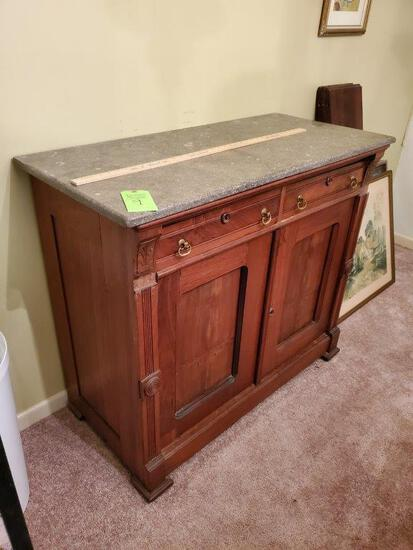 Marble Top Buffet - 120 Years Old - Dove Tail Drawers