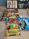 7 Sports Games, 2 Posters, & Larry Bird Card